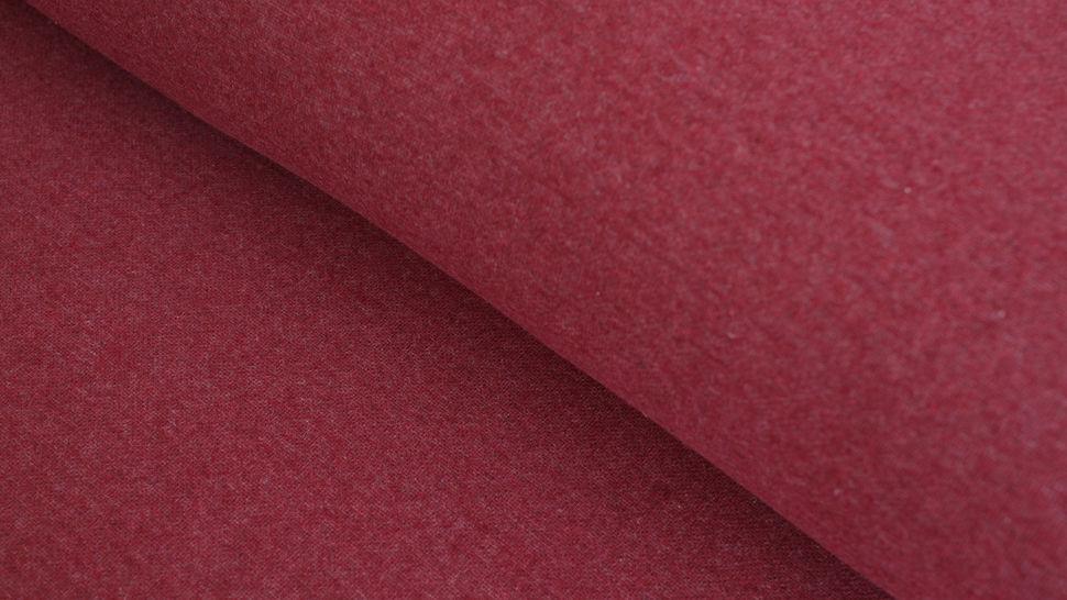 Jacquard-Jersey bordeaux uni - 155 cm im Makerist Materialshop - Bild 1