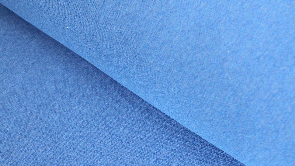 Jacquard-Jersey uni recycelt: jeans - 155 cm im Makerist Materialshop - Bild 1