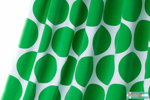 Lillestoff Bio-Jersey weiß grün: Riesenpunkte - 150 cm im Makerist Materialshop