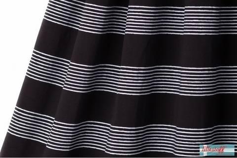 Lillestoff Bio-Jersey schwarz weiß: Basicstreifen - 150 cm im Makerist Materialshop
