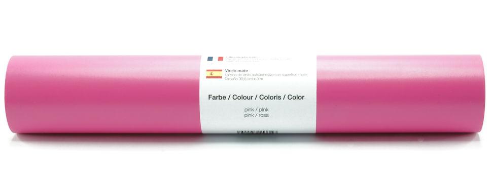 Vinylfolie matt pink - 30,5 cm x 3 m im Makerist Materialshop - Bild 1