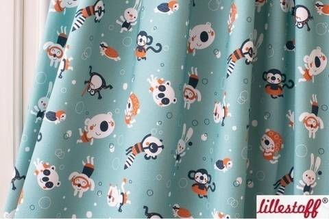Lillestoff Bio-Jersey: Swimming Party - 160 cm im Makerist Materialshop