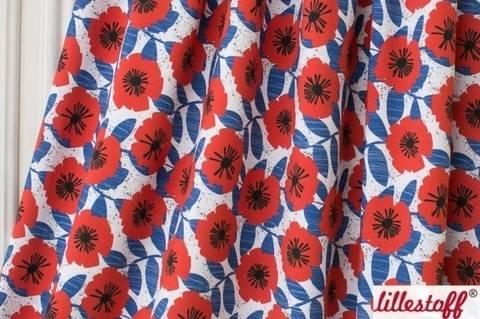 Lillestoff Bio-Jersey blau: Let The Sun In - 160 cm im Makerist Materialshop