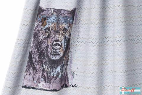 Lillestoff Rapport Bio-Jersey meliert hellgrau: Shabby Bear - 150 cm im Makerist Materialshop