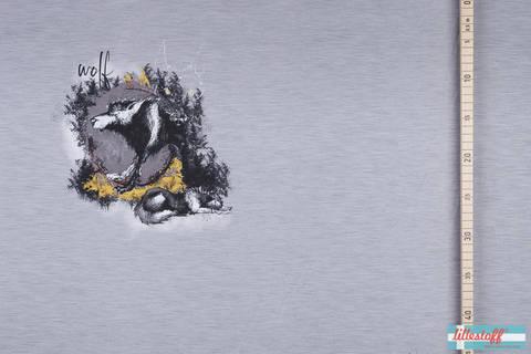 Lillestoff Rapport Bio-Jersey grau: Mystical Wolf - 160 cm im Makerist Materialshop