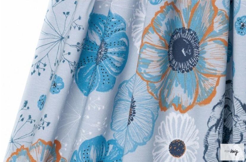 Lillestoff Modalstoff blaugrau: Herbsttraum - 150 cm im Makerist Materialshop - Bild 1