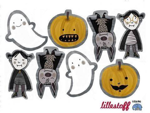 Lillestoff Rapport Bio-Jersey: Halloween Kissen - 150 cm im Makerist Materialshop