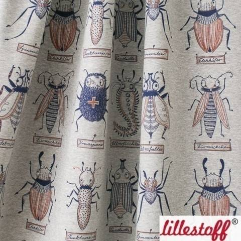 Lillestoff Bio-Jersey grau-meliert: Käferforschung - 150 cm im Makerist Materialshop