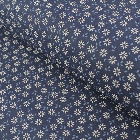 Baumwollstoff Popeline navy: Daisy - 145 cm im Makerist Materialshop