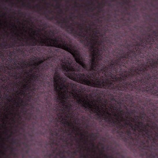 Baumwollfleece uni melange: bordeaux im Makerist Materialshop - Bild 1