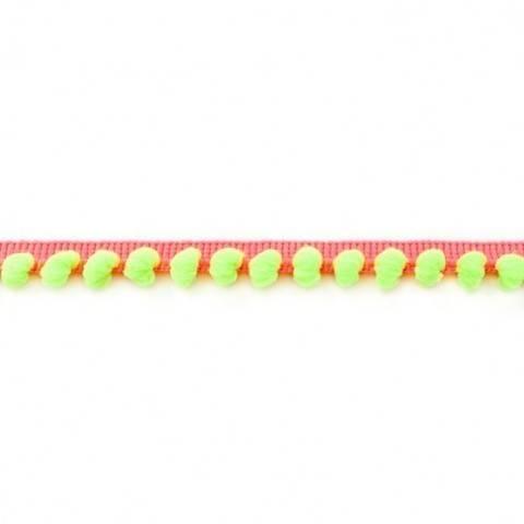 Bommelborte orange-neongrün fluoreszierend im Makerist Materialshop