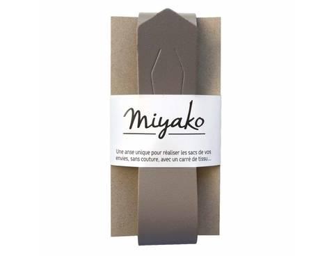 Miyako Taschengriff: Grau im Makerist Materialshop