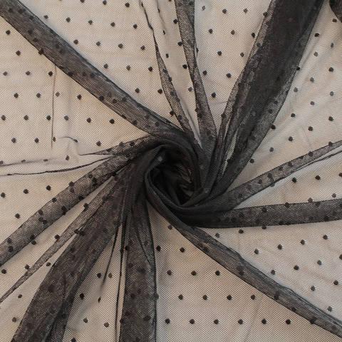 Mesh schwarz: Punkte - 150 m im Makerist Materialshop