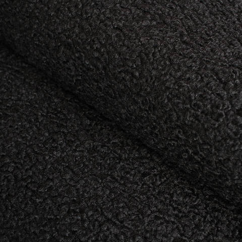 Boucléstoff schwarz uni - 145 cm im Makerist Materialshop