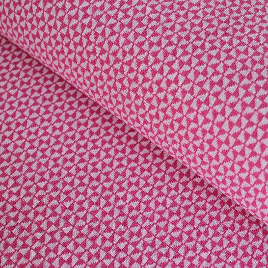 Jacquard-Jersey pink rosa: Geometrie - 155 cm im Makerist Materialshop - Bild 1