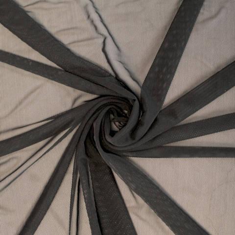 Mesh schwarz uni - 150 cm im Makerist Materialshop