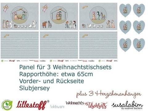 Lillestoff Rapport Slubjersey: Tischset Krippenspiel - 140 cm im Makerist Materialshop