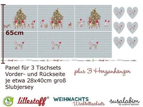 Lillestoff Rapport Slubjersey: Tischset Wichtelweihnacht - 140 cm im Makerist Materialshop