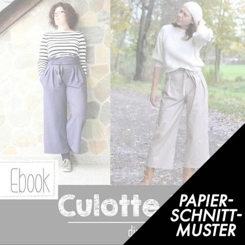 "Gedrucktes Schnittmuster für: Culottehose ""LOTTA"" Damen 34-50 im Makerist Materialshop"
