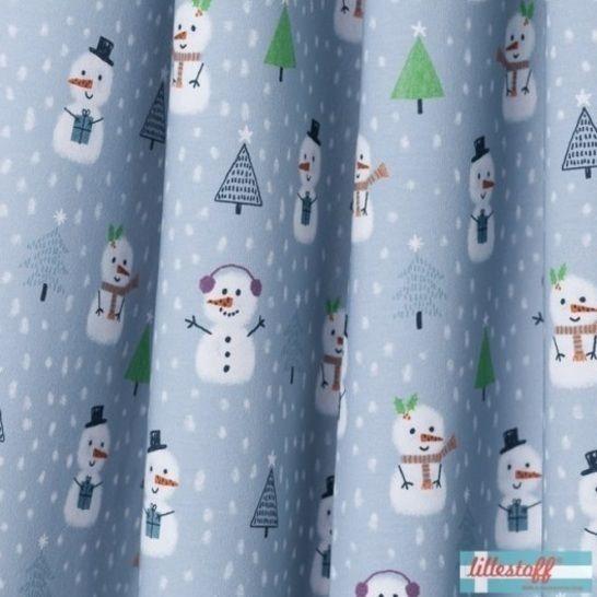 Lillestoff Bio-Summersweat: Little Snowmans Christmas - 160 cm  im Makerist Materialshop - Bild 1