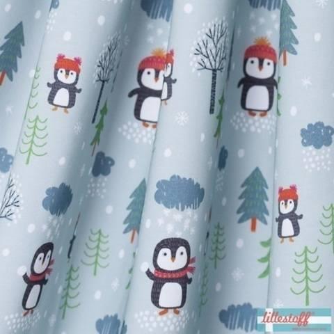 Lillestoff Bio-Summersweat: Bei den kleinen Pinguinen - 150 cm  im Makerist Materialshop