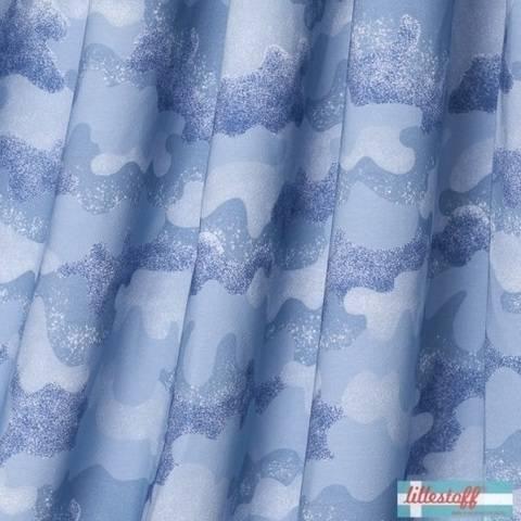 Lillestoff Bio-Summersweat: Wolkencamouflage - 150 cm  im Makerist Materialshop