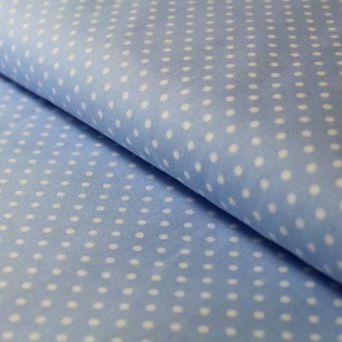 Baumwollstoff Polka Dot hellblau: Judith - 148 cm im Makerist Materialshop