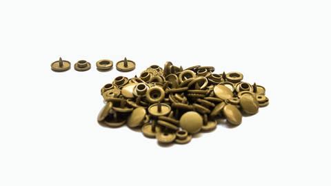 Druckknöpfe KAM Snaps T5 glänzend von Snaply 25 Stk. - B11 gold im Makerist Materialshop