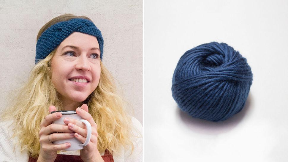 Stirnband Masaki - dunkelblau im Makerist Materialshop - Bild 1