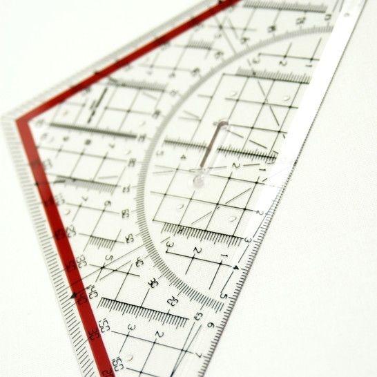 Geodreieck Hypotenuse 25 cm mit abnehmbarem Griff im Makerist Materialshop - Bild 1