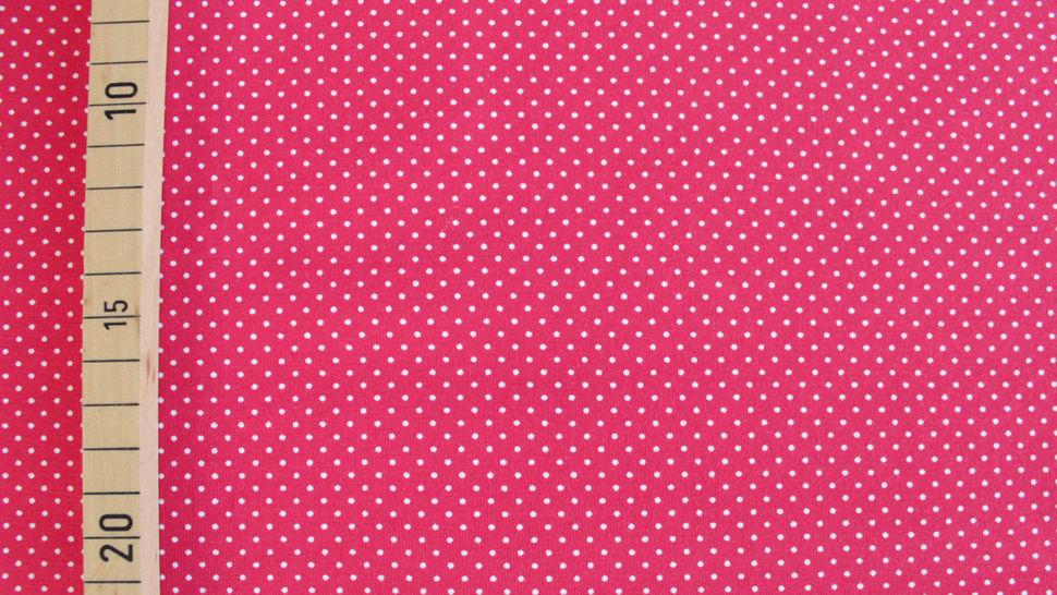 Rot-weißer Baumwolljersey: Sunny Pünktchen - 150 cm im Makerist Materialshop - Bild 2