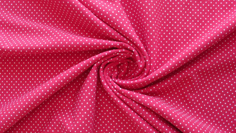 Rot-weißer Baumwolljersey: Sunny Pünktchen - 150 cm im Makerist Materialshop - Bild 3