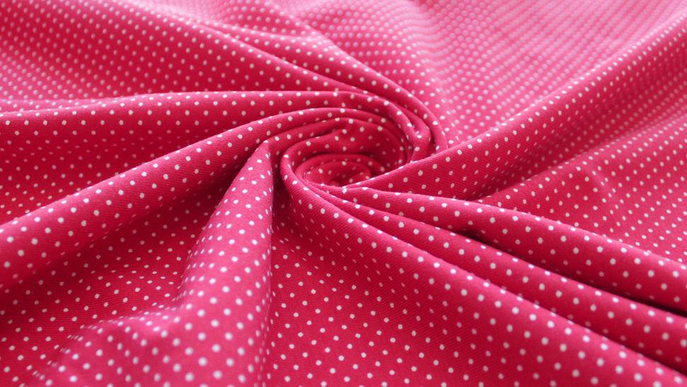 Rot-weißer Baumwolljersey: Sunny Pünktchen - 150 cm im Makerist Materialshop - Bild 4