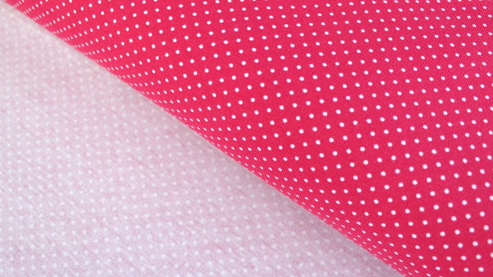 Rot-weißer Baumwolljersey: Sunny Pünktchen - 150 cm im Makerist Materialshop - Bild 5