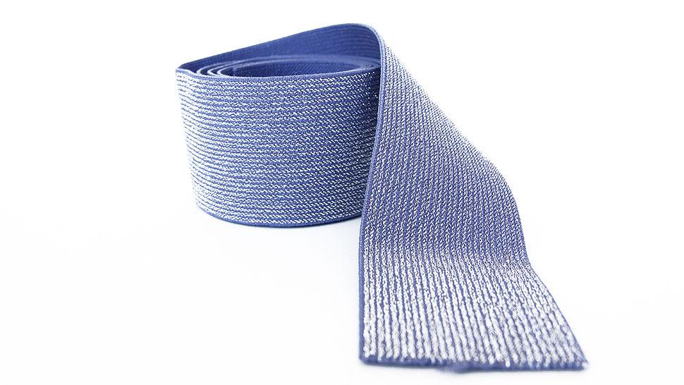Elastisches Glitzerband - jeansfarbend - 5 cm im Makerist Materialshop - Bild 3