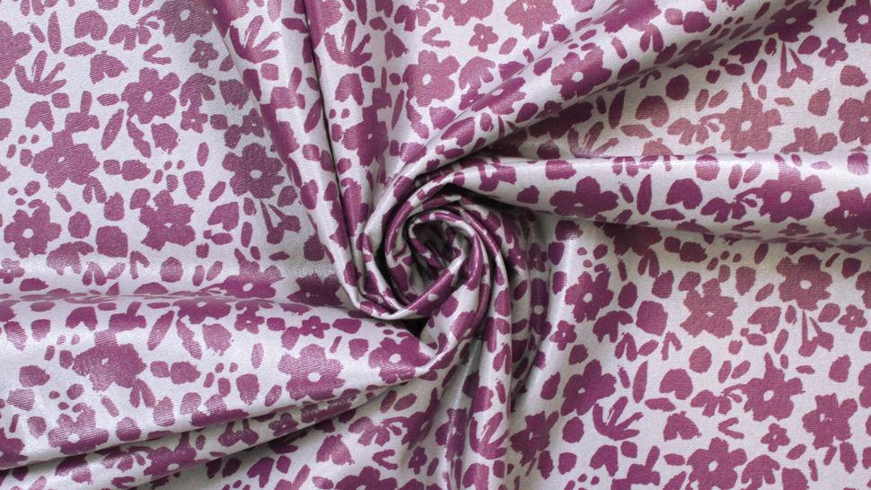 Beschichteter Jersey lila-grau: Blumen - 150 cm im Makerist Materialshop - Bild 4