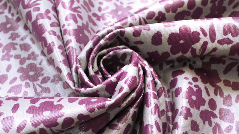 Beschichteter Jersey lila-grau: Blumen - 150 cm im Makerist Materialshop - Bild 5