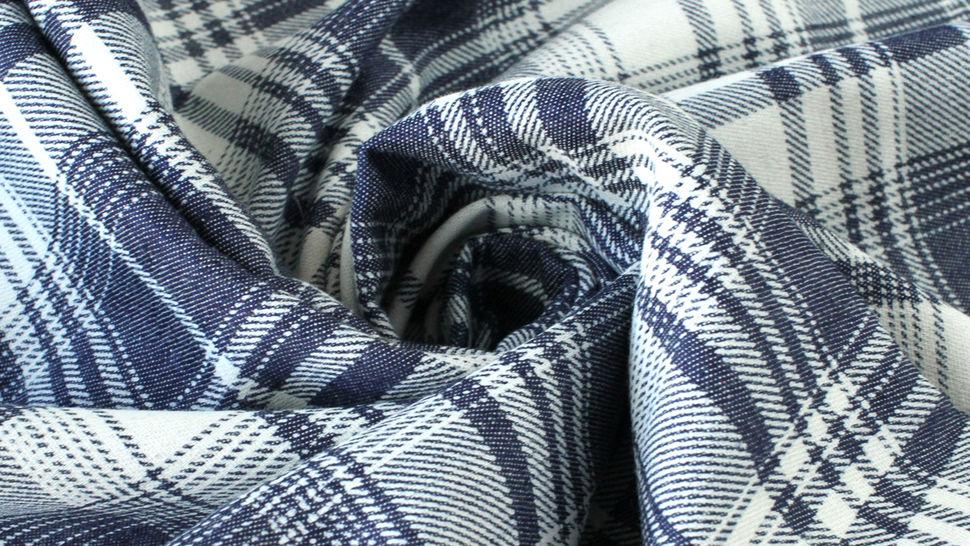 Baumwollstoff dunkelblau-weiß: Denim Karomuster - 145 cm im Makerist Materialshop - Bild 5