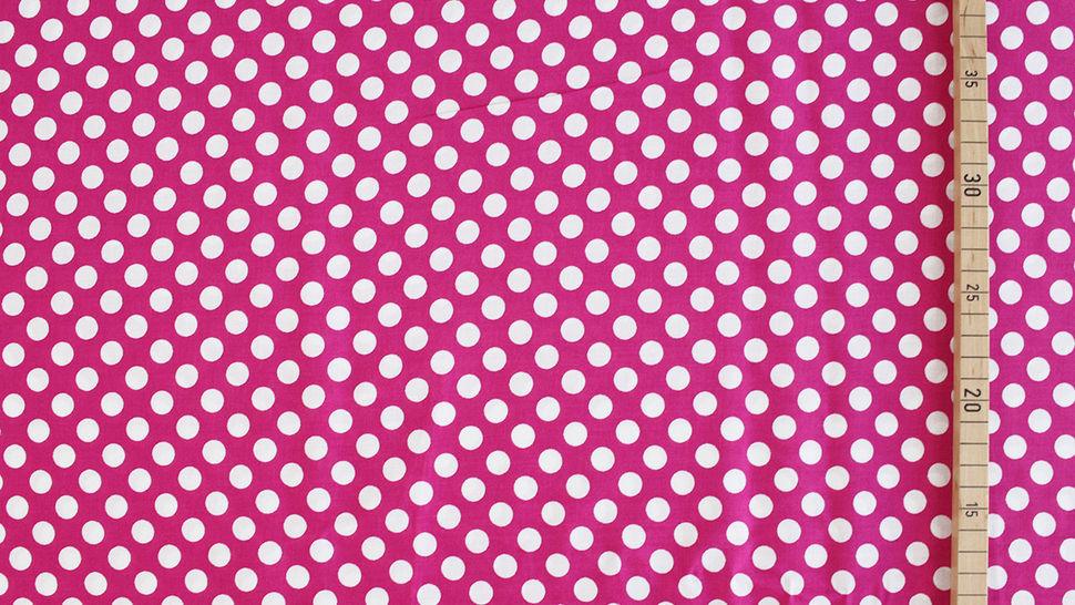 Viskosestoff beere-weiß: Punkte - 150 cm im Makerist Materialshop - Bild 3