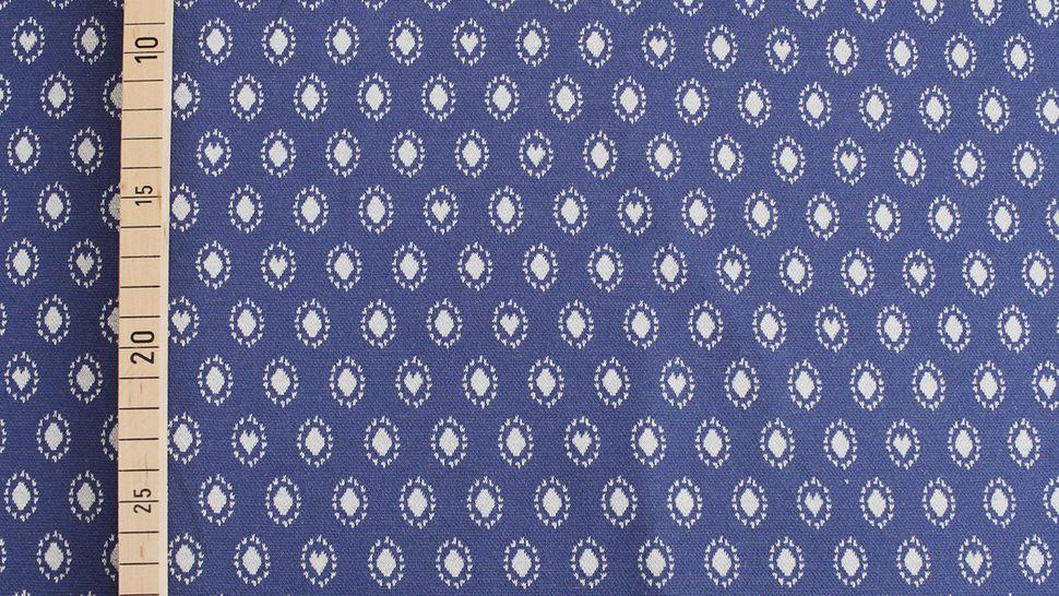 Jacquardstoff dunkelblau: Avalana Herzen und Kreise - 160 cm im Makerist Materialshop - Bild 3