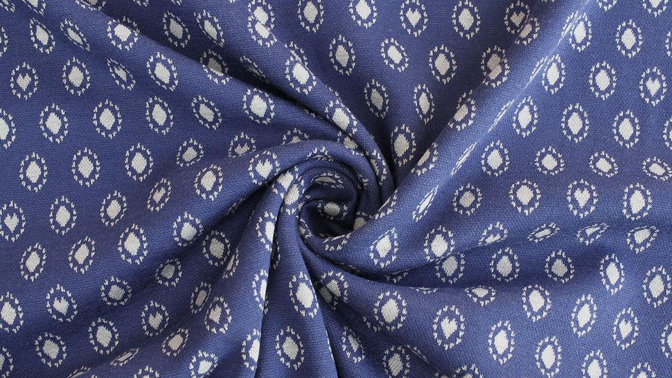 Jacquardstoff dunkelblau: Avalana Herzen und Kreise - 160 cm im Makerist Materialshop - Bild 4