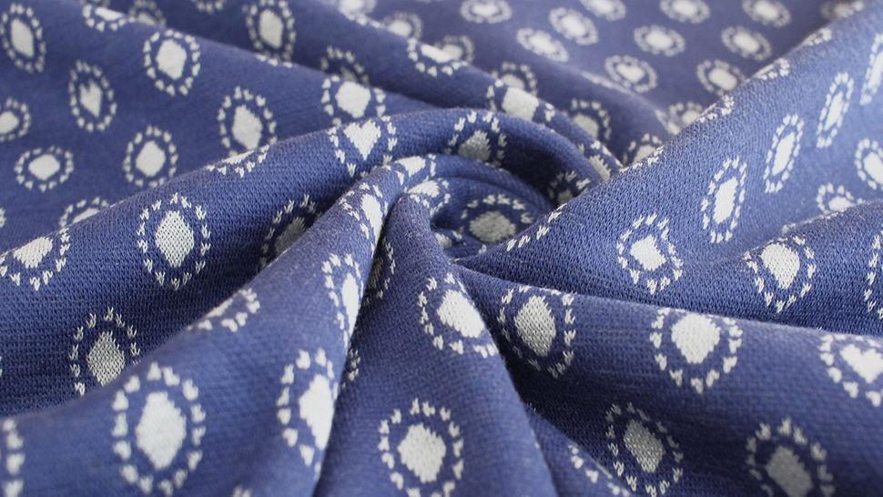 Jacquardstoff dunkelblau: Avalana Herzen und Kreise - 160 cm im Makerist Materialshop - Bild 5