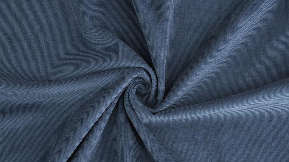 Cordstoff fein dark denim - 147 cm im Makerist Materialshop - Bild 3