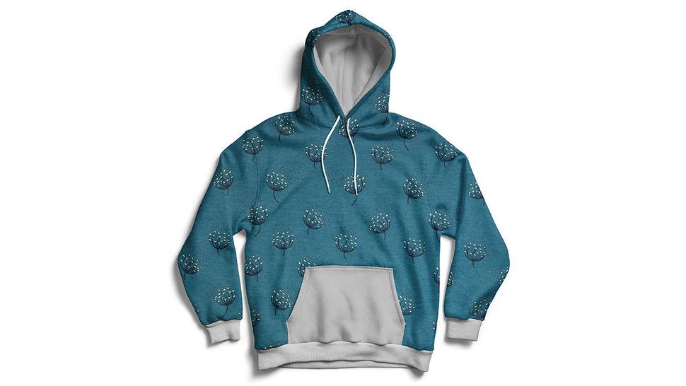 Tissu en sweat bleu Avalana imprimé pissenlits  -160 cm dans la mercerie Makerist - Image 2
