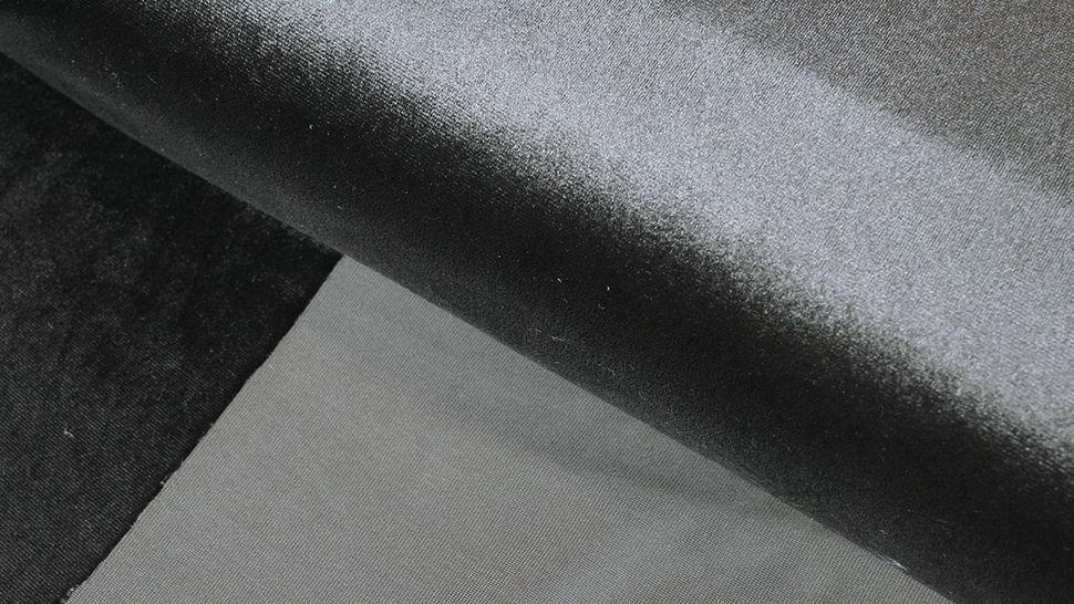 Samtstoff Stretch schwarz - 165 cm im Makerist Materialshop - Bild 2