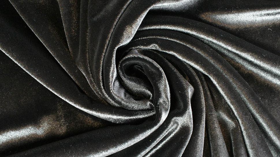 Samtstoff Stretch schwarz - 165 cm im Makerist Materialshop - Bild 3