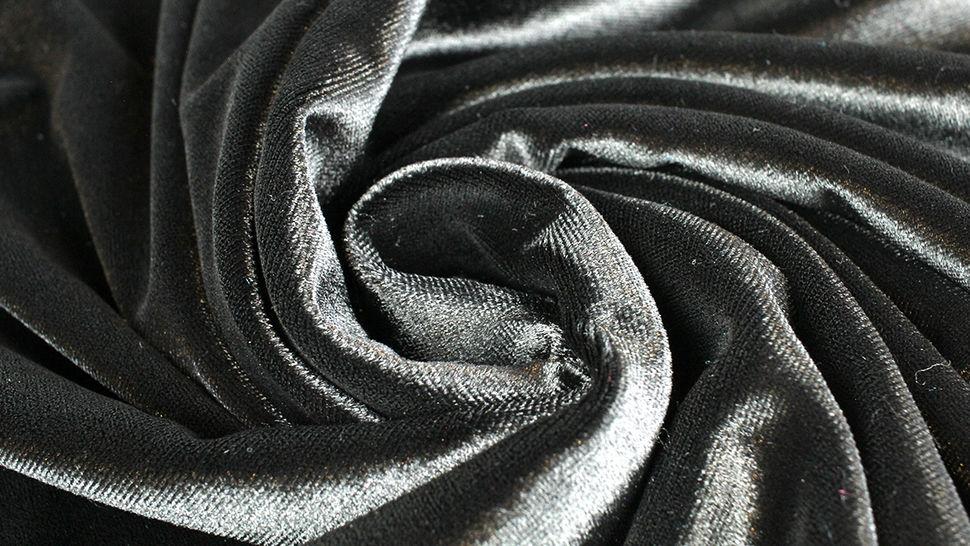 Samtstoff Stretch schwarz - 165 cm im Makerist Materialshop - Bild 4