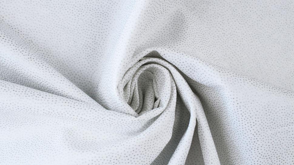 Weißer Baumwollstoff: Silber Pünktchen - 112 cm im Makerist Materialshop - Bild 4