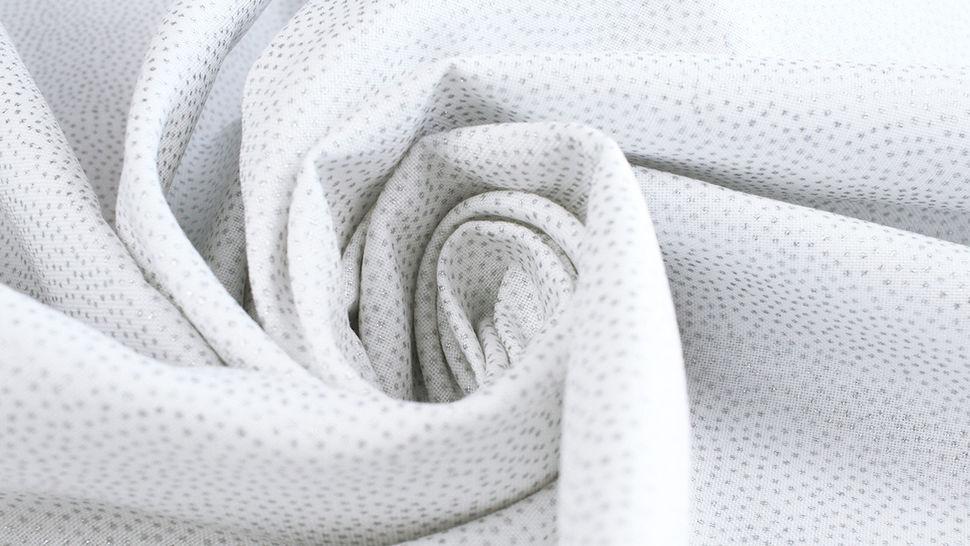 Weißer Baumwollstoff: Silber Pünktchen - 112 cm im Makerist Materialshop - Bild 5