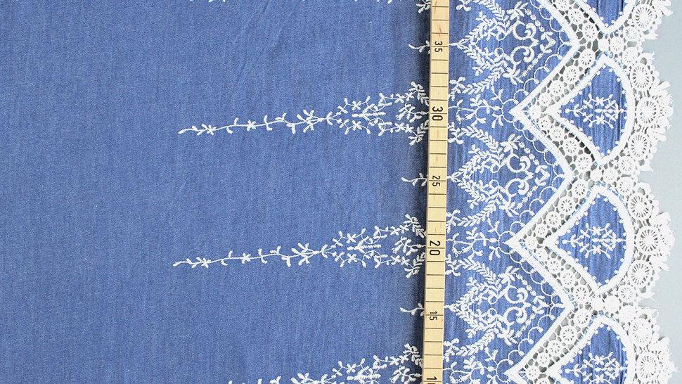 Jeansstoff hellblau: Stickerei - 145 cm im Makerist Materialshop - Bild 3